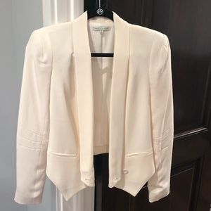 Rebecca Minkoff 100% silk off-white jacket